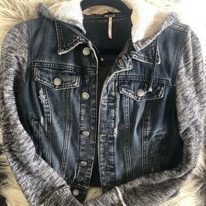 Free People Knit Denim Jacket